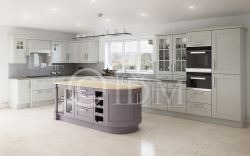 Shaker Ash Painted in Dove Grey and Savoy